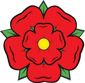символ Англии - красная роза