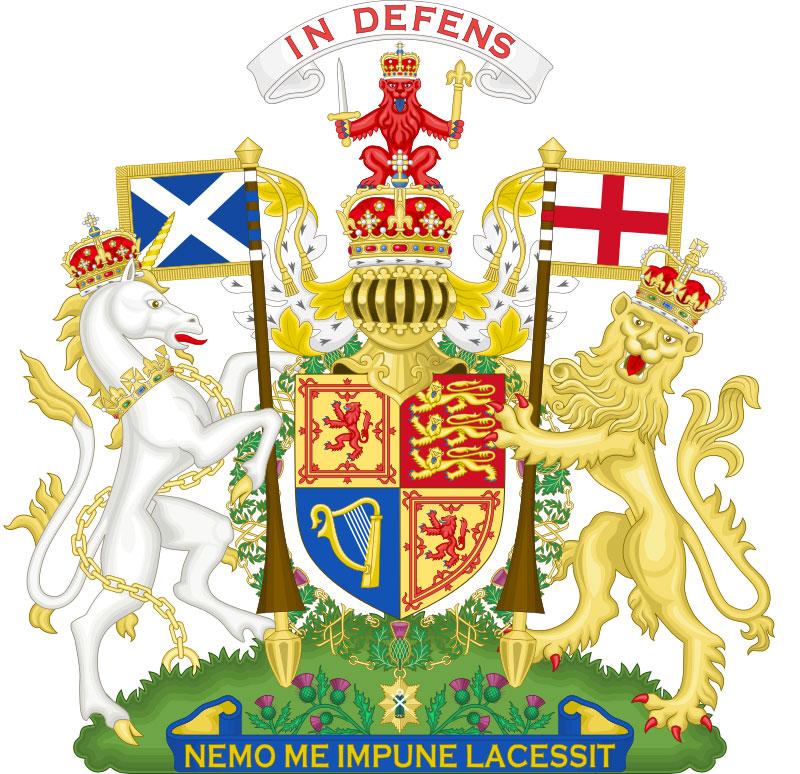 Королевский герб Великобритании (шотландский вариант)