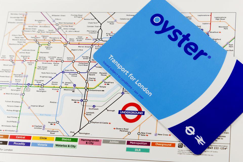 карта oyster метро лондон